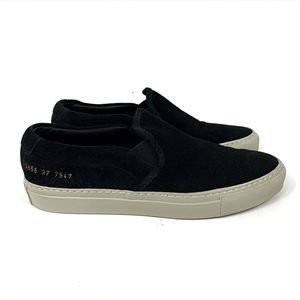 Woman by Common Projects Suede Slip-On Sneakers
